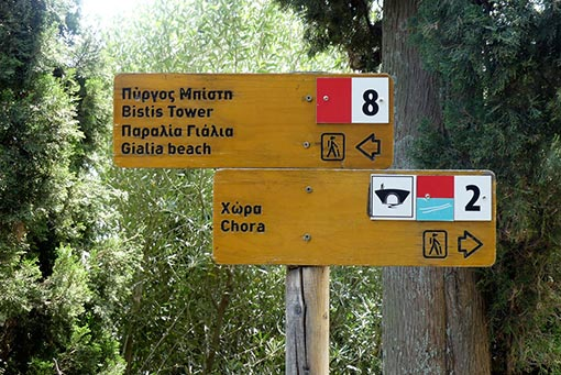 Trekking paths in Andros